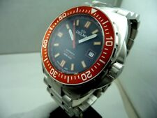 DELMA SWISS MADE DIVER STEEL WATCH 500 METERS 1650 FT SAPPHIRE GLASS TOP NEW B&P