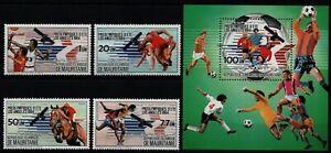 Mauretanien 1983 - Mi-Nr. 801-804 & Block 43 ** - MNH - Olympia Los Angeles