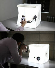 "Mini Light Room Photo Studio 9"" Photography Backdrop Cube Box w/ 2 Backgrounds"