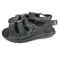 Propet Breeze Black Leather Adjustable 3 Strap Sandals Womens Size 6.5 W GUC