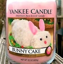 """Yankee Candle """"Bunny Cake"""" Collector's Edition Large 22 oz.~ White Label~ New!"""