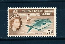 TURKS & CAICOS ISLANDS 1957 DEFINITIVES SG243 5d (FISH)  MNH
