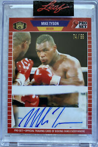 """MIKE TYSON """"IRON MIKE"""" 2021 LEAF PRO SET AUTO 74/99 [IN HAND, SHIPS NOW]"""