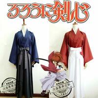 Rurouni Kenshin Executioner HIMURA KENSHIN Cosplay Costume Kimono Kendo Suit