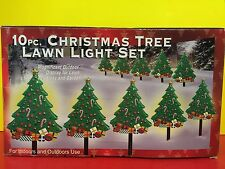 10 Piece Christmas Tree Lawn Light Display Holiday Decorations New In Box