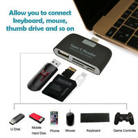 4 in 1 USB 3.1 Type-C Card Reader to SD/TF/USB/Micro USB OTG HUB Adapter for Mac