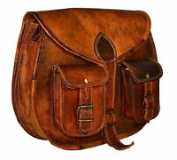 Women's New Genuine Vintage Leather Handcrafted Satchel Messenger Shoulder M Bag