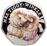 2016 Fifty Pence MRS TIGGY-WINKLE BEATRIX RARE 50p UNCIRCULATED COIN COLOUR GIFT