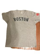 47 Brand Womens Size XL Boston Red Sox Crewneck Fenway T Shirt Top Gray