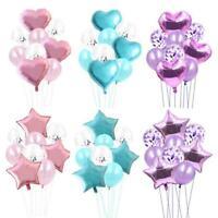 9pcs Foil Balloons Helium Confetti Baloon Wedding Decor Birthday Party Supplies