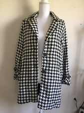 Brandy Melville black/white houndstooth oversize pea coat jacket NWT OS