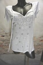 I~N~C WHITE SEQUINNED KNIT TOP ,SIZE EXTRA SMALL