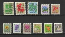 Canada 1977 fleurs sauvages & arbres série de 11 timbres oblitérés /TR9999zo