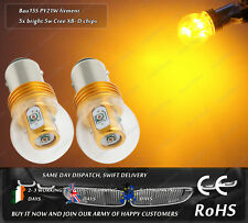 Cree LED BAU15S PY21W Yellow Amber Turn Signal Indicator Light Bulbs 12V 24V