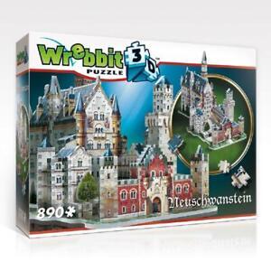 Wrebbit 3D Puzzles : CASTLES AND CATHEDRALS Neuschwanstein Castle - 890 Pieces -