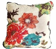 floral square decorative bed pillows