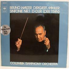 """Bruno Walter Orchestra Mahler Filarmonica n. 1 il Titano Columbia 12"""" LP (e554)"""