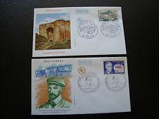 FRANCE - 2 envelopes 1st day 1971 (henri farman/castle sedan) (cy83) french