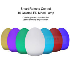LED Egg Solar Rechargeable Power Adaptor Garden Light RGB Color Outdoor Lamp