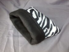Zebra striped snuggle sack for hedgies, rats, sugar gliders, ferrets and small a