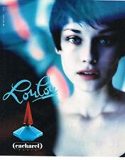 PUBLICITE ADVERTISING  1994   LOULOU  parfum CACHAREL