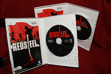 Red Steel Nintendo Wii COMPLETE FREE SHIPPING Very Good Condition