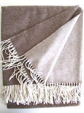 Kaschmirdecke doppelseitig beige/creme, Wolldecke aus Kaschmir,  135x185 cm