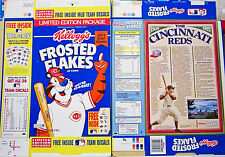 1992 Frosted Flakes Cincinnati Reds Cereal Box unused factory Flat shm251