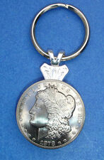 Western Cowboy Jewelry Bright Morgan Silver Dollar Concho Key Ring Kit