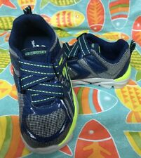 Skechers Boys Toddler Super Z Strap Blue Silver Neon Green Shoes Size 10