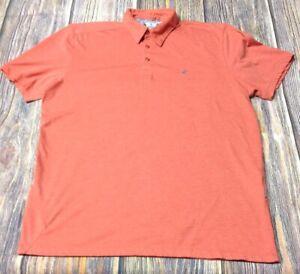 Volcom Men's Orange Large 3 Button Polo Shirt Pre-owned