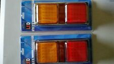 PAIR NEW M/VOLT LED STOP/TAIL/INDICATOR LAMPS FOR TRAILER 4X4 UTE