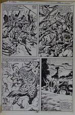 JOHN BUSCEMA / ERNIE CHAN original art, KING CONAN #2 pg 44, 10x16, Signed Comic Art