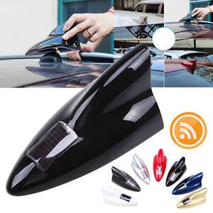 1x Black Solar Car Shark Fin dummy Antenna LED 8 Warning Flash Tail Light Shell