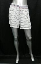 SR NWT White/Black/Red Paisley Print Elastic Waist Dress Shorts Juniors sz M