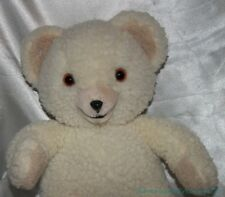 "Vintage 1980s Russ Lever Bros Plush 16"" Cream Soft Fleecy SNUGGLE BEAR Ad Mascot"