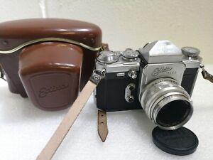 Wirgin Edixa Flex Film Camera Steinhell Munchen Cassarit 2.8 50mm Lens #262
