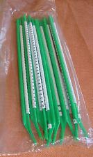 """10 Stäbe Kabelmarkierer grün Zahl """" 2 """" Markierungsringe zum Aufschnappen 1626"""