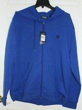 MEN'S SZ XL ZIP FRONT BLUE HOODED SWEATSHIRT JACKET by CHAPS-NEW WITH TAGS
