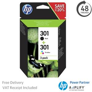 Original HP 301 Black & Colour Ink Cartridge N9J72AE Multipack CH561EE / CH562EE