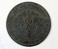 ALGERIE Monnaie  jeton chambre de commerce   D 'ALGER 5 C  ZINC  1917 AE24