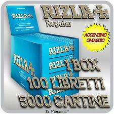 Cartine Rizla BLU Corte 5000 fogli 1 box da 100 Libretti - RIZLA BLUE