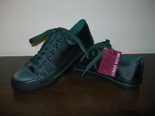 CLAUDIA GHIZZANI WOMEN'S SHOES FLATS TRAINERS BASIL GREEN SATIN EU 36 / UK 3-3.5