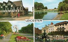 Leicestershire - Leicester, Multiview - Vintage Postcard