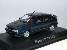 Norev 511907 - Renault 19 16S 3-Türer - Baujahr 1992 - Sport Blue - 1:43