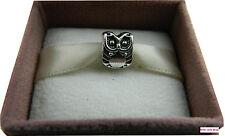 Owl charm bead fit charm bracelet ton argent-présenté dans un organza sac cadeau