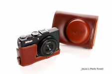 Genuine real Leather Full Camera Case Camera bag for Nikon Coolpix A Bottom Open