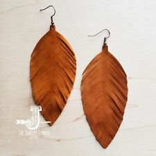 Suede Feather Earrings (3 colors to choose from)