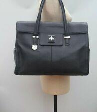 Knomo black Leather Briefcase Tote Bag Handbag Shopper Satchel Laptop Helena