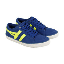 Gola Comet CMA516 Mens Blue Canvas Casual Low Top Lifestyle Sneakers Shoes 10